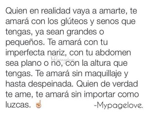 love, frases, and realidad image