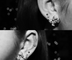 bow, ear, and earrings image