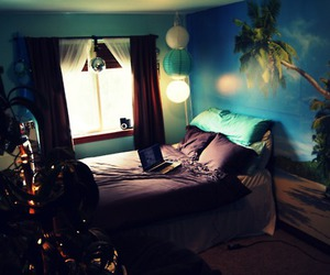 beach, bed, and blue image
