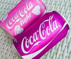 pink, coca cola, and drink image