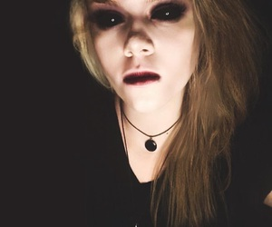 black clothes, dark makeup, and dyed hair image