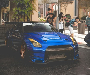 car, blue, and gtr image