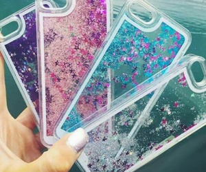 glitter, iphone, and phone cases image