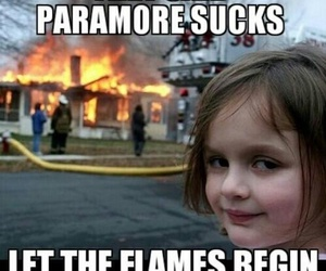 fire, funny, and paramore image