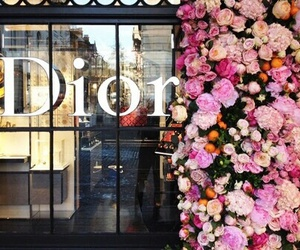 dior, flowers, and fashion image