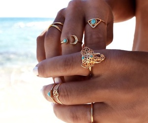 rings, elephant, and gold image
