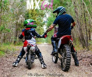 dad, moto, and motocross image
