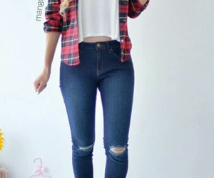 fashion style girl jeans image