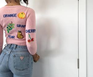 pink, jeans, and style image