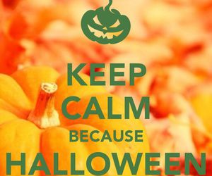 Halloween and keep calm image
