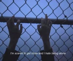 alone, bring me the horizon, and broken image