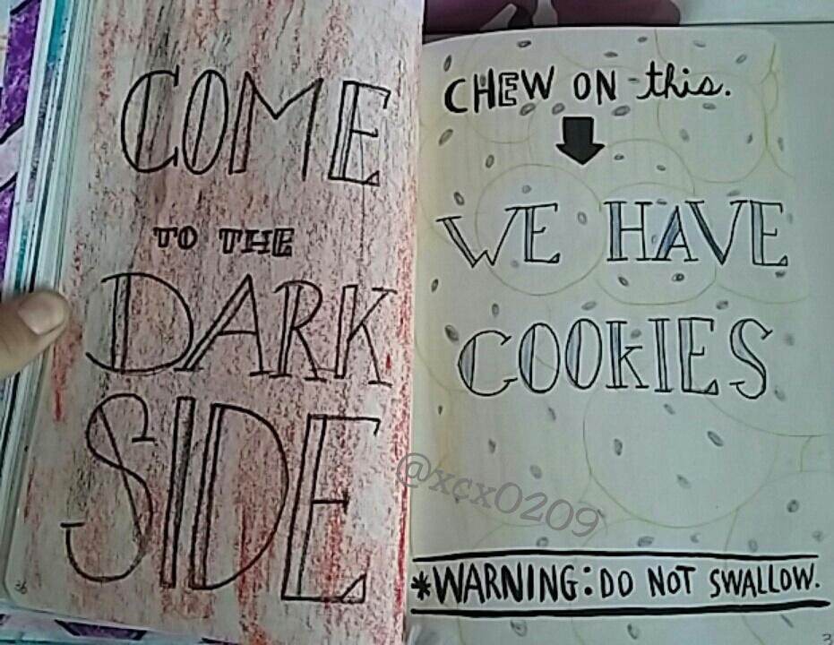 art, black, and Cookies image