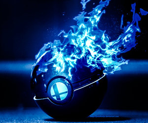 blue, flames, and wii image