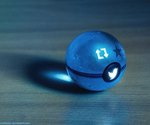 blue, pokeball, and twitter image