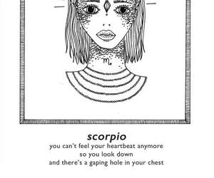 scorpio, horoscope, and zodiac image
