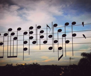 music, sky, and note image