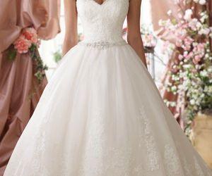 wedding dress, wedding, and fashion image