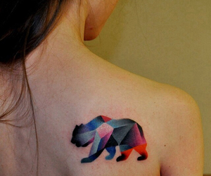 tattoo, bear, and colors image