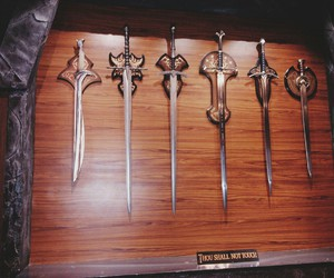 lord of the rings, weaponry, and middle-earth image