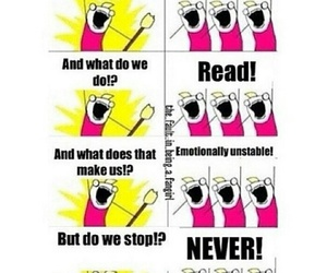 funny, read, and fangirl image