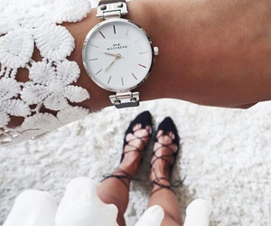 style, watch, and white image