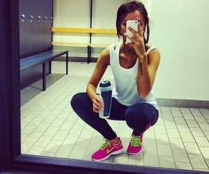 girl, fit, and sport image