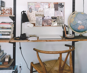 book, room, and desk image
