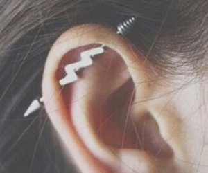ear, flower, and industrial image