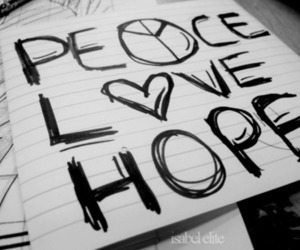 peace, love, and hope image