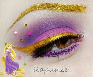 disney, makeup, and rapunzel image