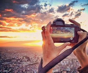 photography, sky, and sunset image