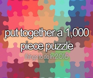 puzzle, brain exercise, and 100thingstodoin2016 image