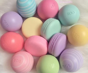 eos, lip balm, and make up image