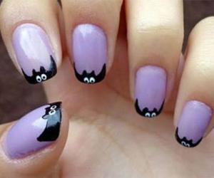 Halloween, nails, and bats image
