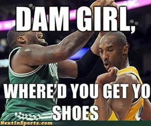 funny, Basketball, and lakers image