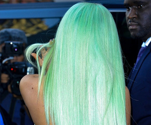 kylie jenner, hair, and green image