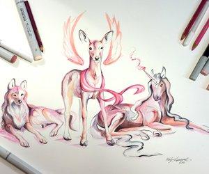 animals, fox, and wolf image