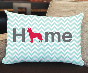 chevron, dogs, and home decor image
