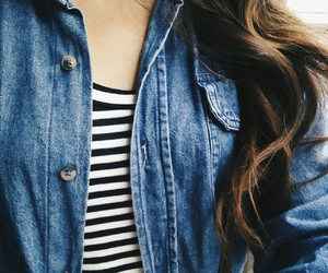 hair, denim, and outfit image