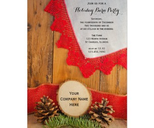invitations, Christmas party, and rustic image