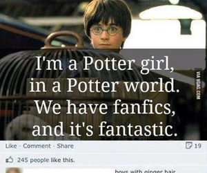 harry potter, funny, and song image