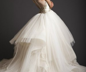 fashion, dress, and wedding dress image
