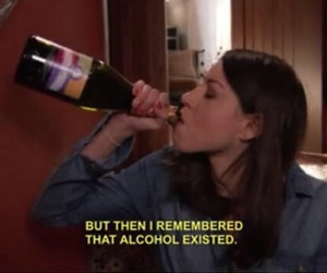 alcohol, me, and despression image