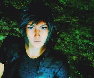 blue eyes, boy, and final fantasy image
