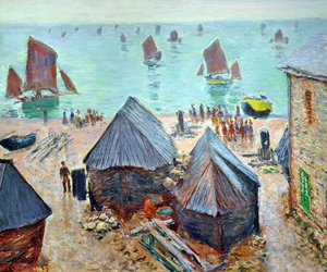boats, claude monet, and painting image