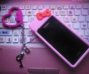 hello kitty, pink, and samsung galaxy s2 image