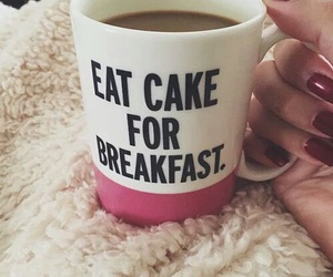 coffee, cake, and breakfast image