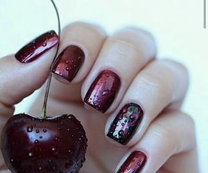 beautiful, cherry, and nail polish image