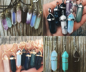 amethyst, crystal, and necklace image