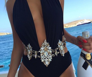 summer, luxury, and black image